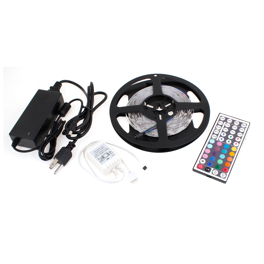 4 in 1 Car 5M 150 Colorful 5050 SMD LEDs Light Strip AC/DC Adapter