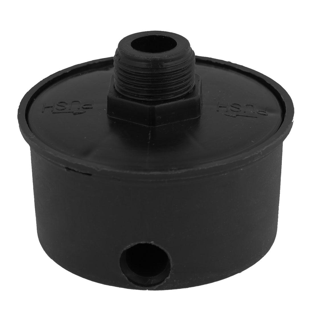 """Plastic Black 1/2""""PT Threaded Silencer Filter for Air Compressor"""