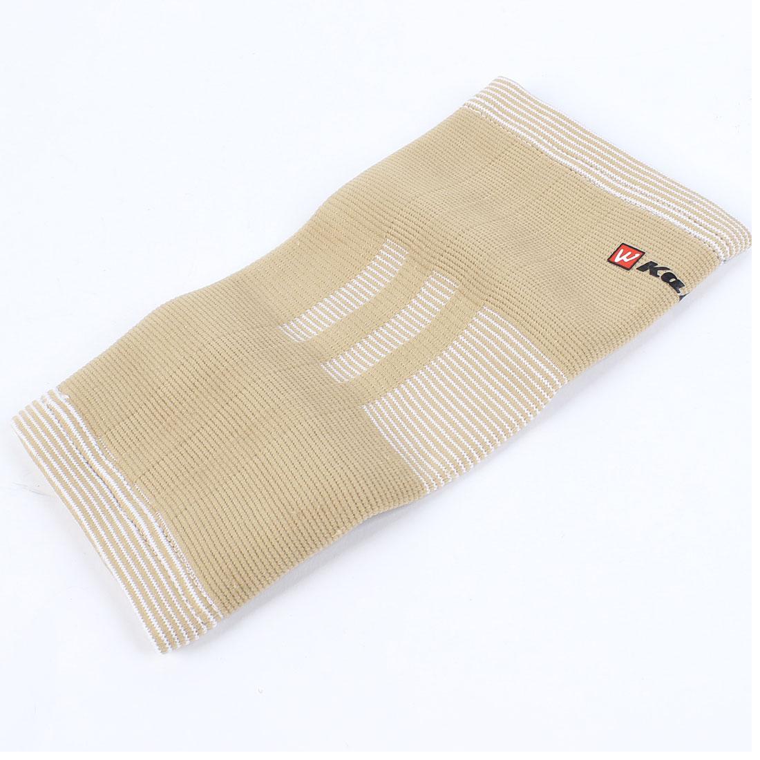 Basketball Tennis Beige Stripe Pattern Pullover Elastic Elbow Arm Support Brace