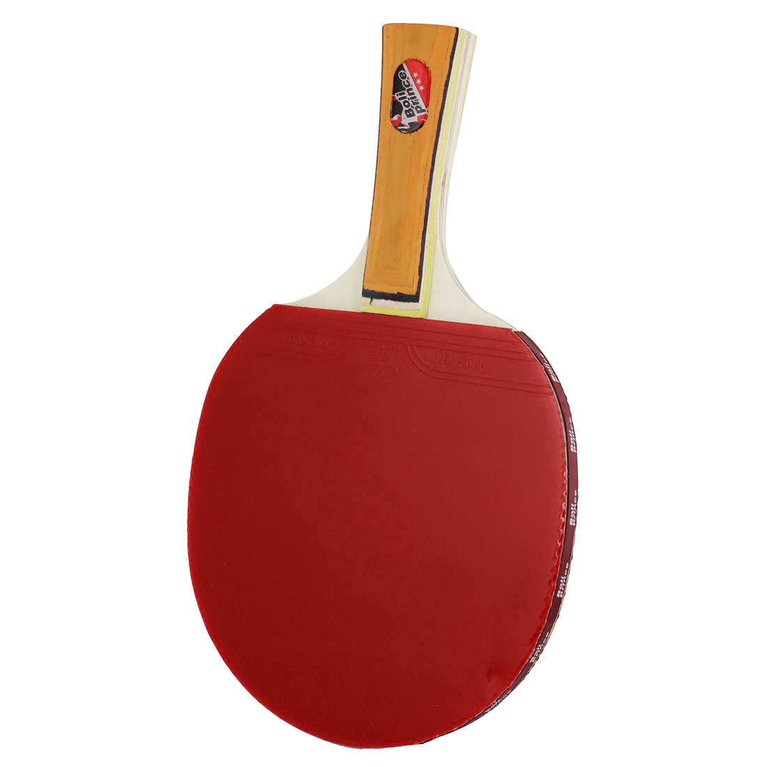 Shakehand Orange Handle Black Red Double Side Ping Pong Recreational Table Tennis Racket