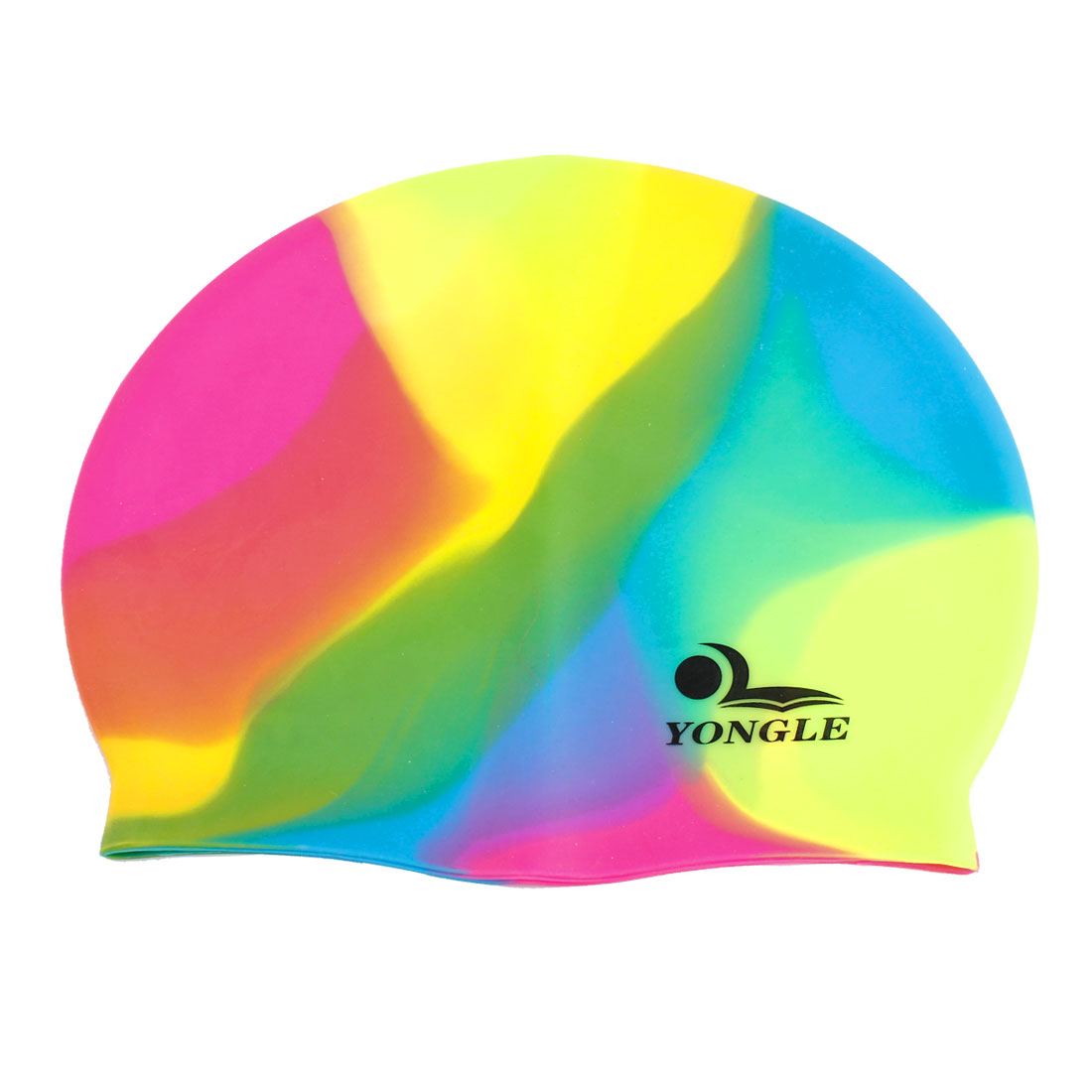Colorful Soft Silicone Sports Swimming Diving Hat Long Hair Cap for Adult