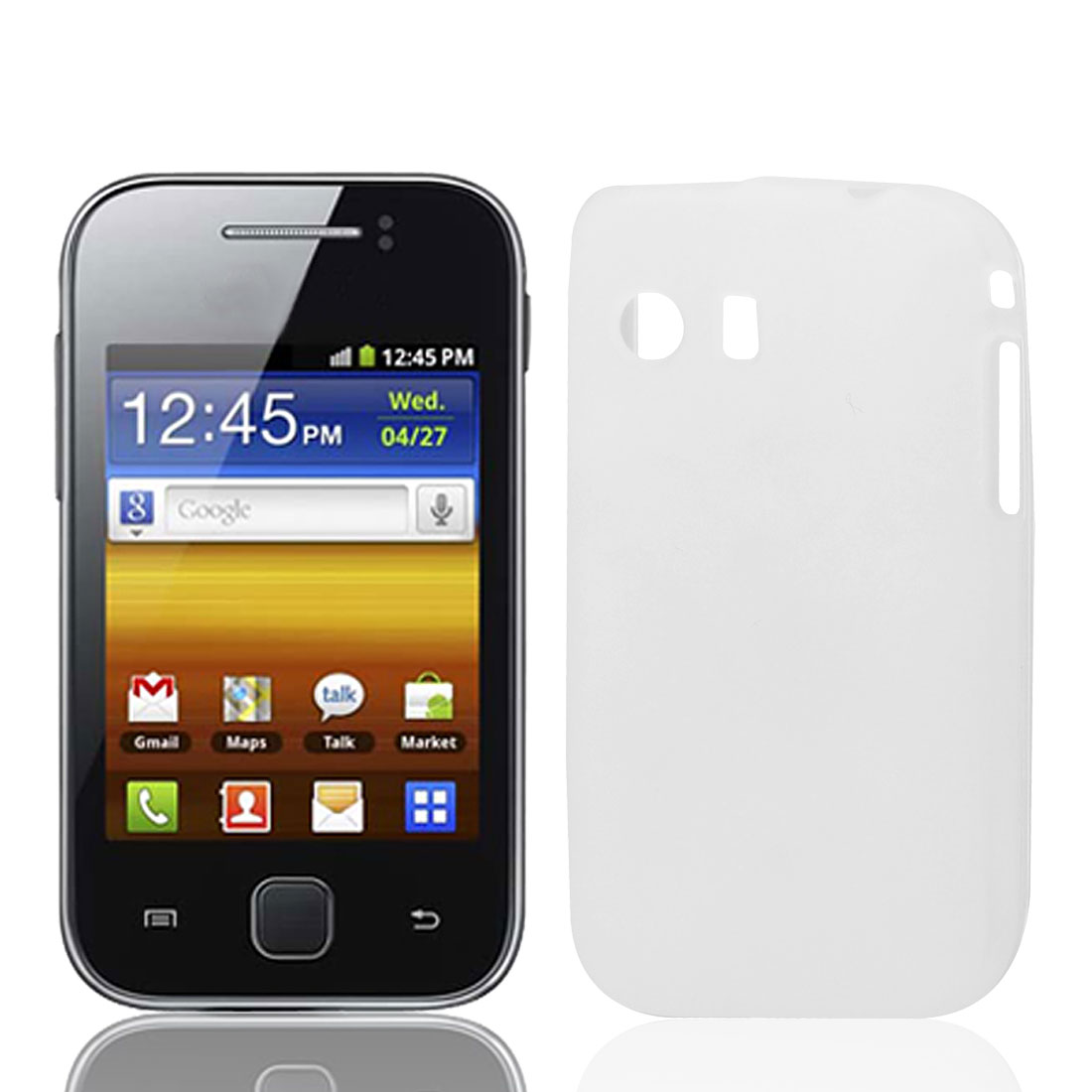 White Translucence Soft Case Cover for Galaxy S5360