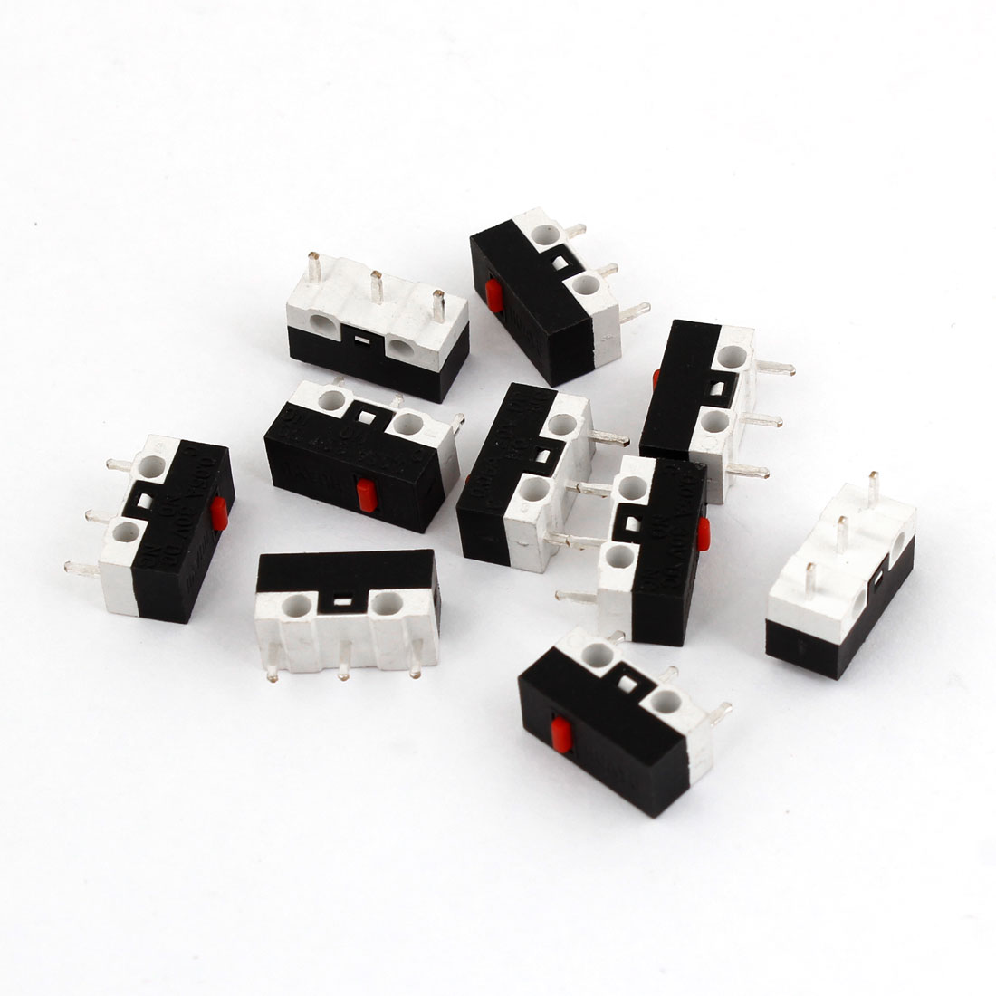 10 Pcs 13 x 6mm 1NO 1NC 3 Pin SPDT Micro Limit Switches DC 30V 0.05A