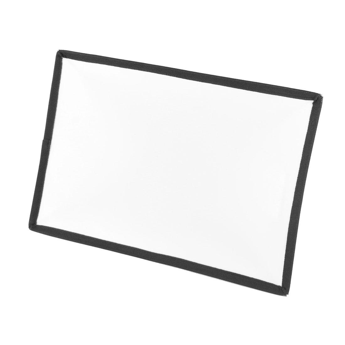 Rectangle Black Soft Box Flash Diffuser 29x20cm for Digital SLR Camera