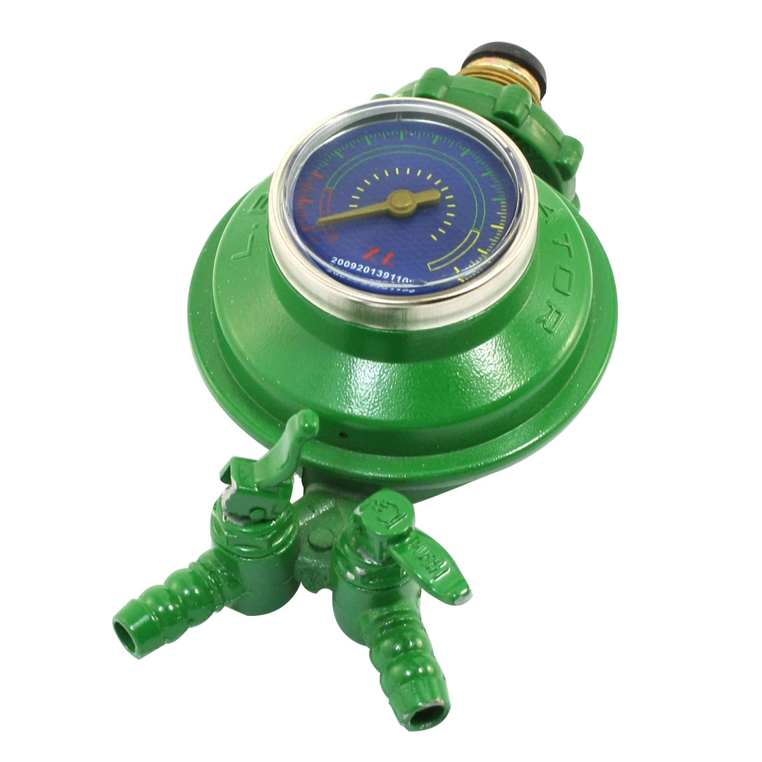 1 Inlet 2 Outlet Liquefied LGP Compressed Gas Pressure Regulator Green
