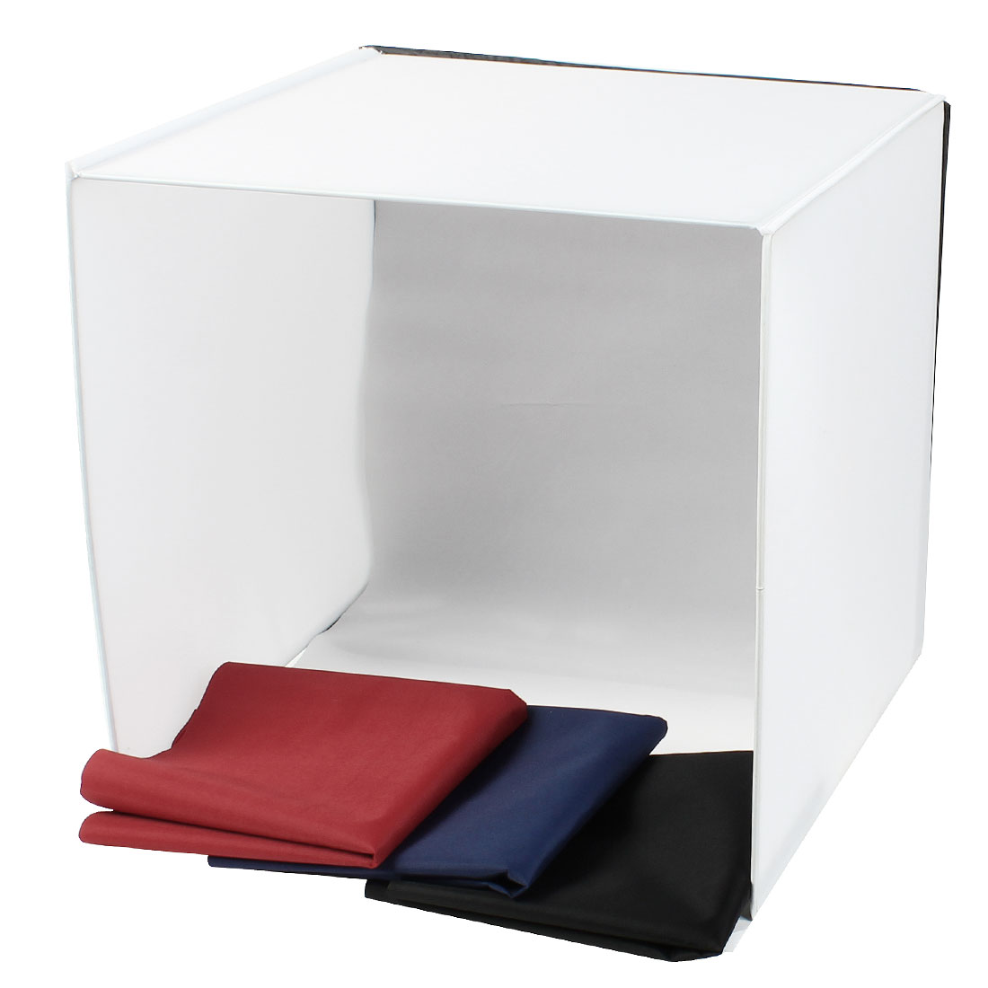 Folding Photography Table Top Photo Studio Softbox Cube 50cm w 4 Background Cloth