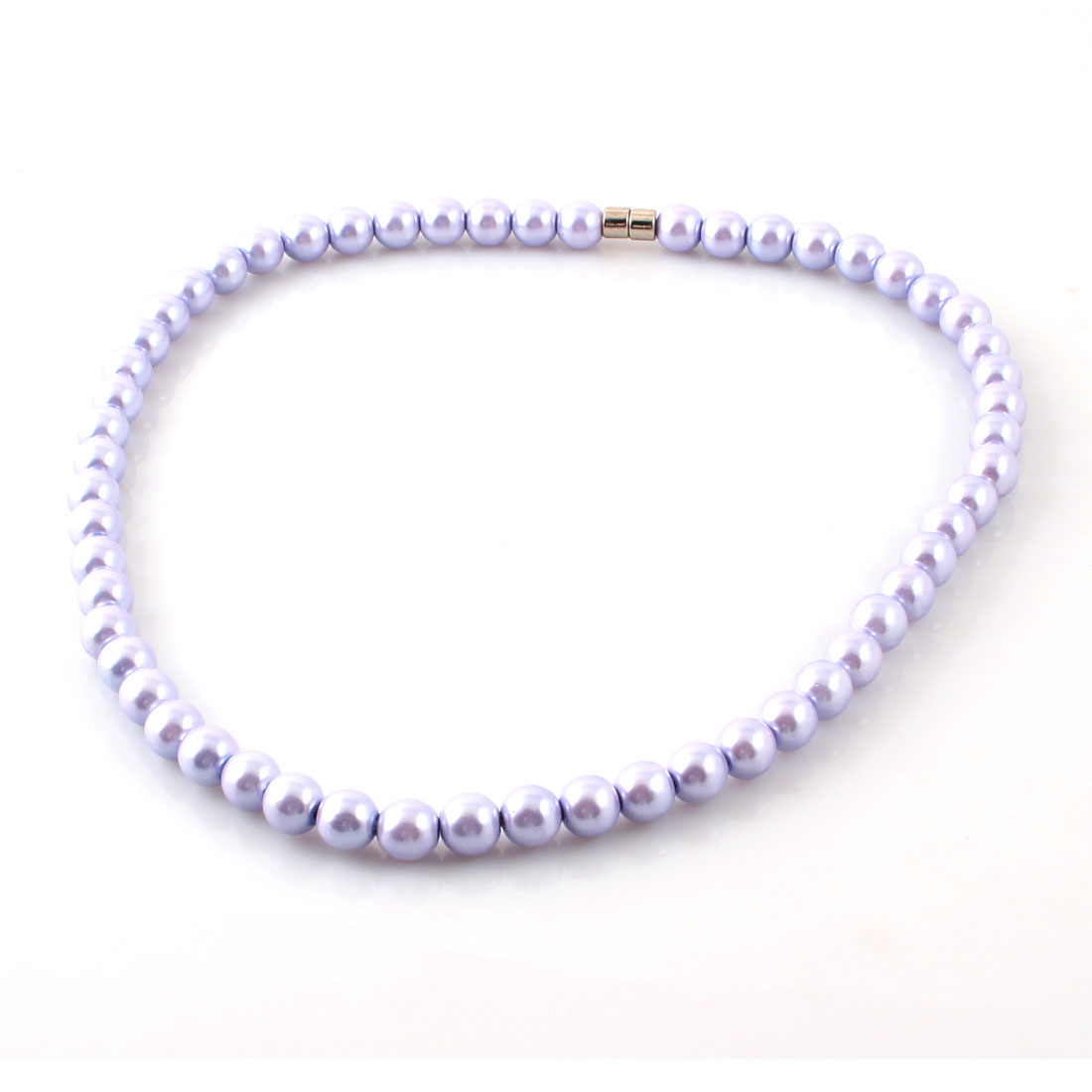Ladies Party Decor Lavender Round Hematite Beads Magnetic Necklace