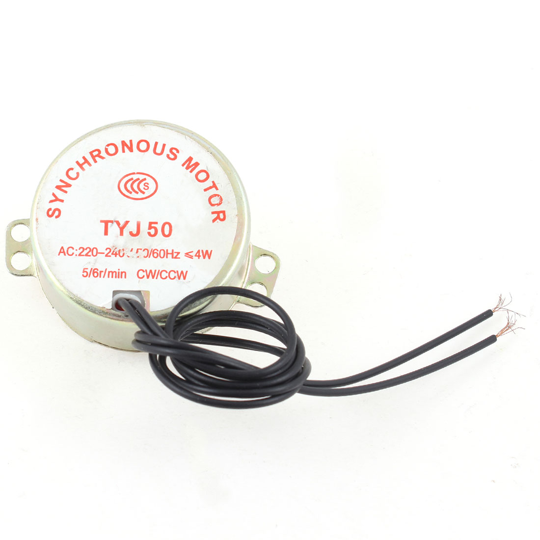 Metal Shell CW/CCW Direction 5/6RPM Synchronous Motor AC 220-240V