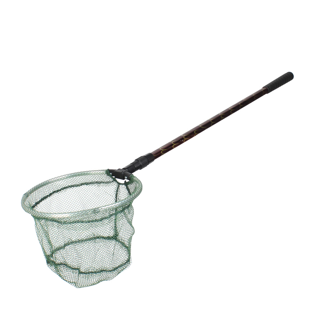 1.2M 2 Section Handle Round Frame Army Green Dipnet Fishing Landing Net