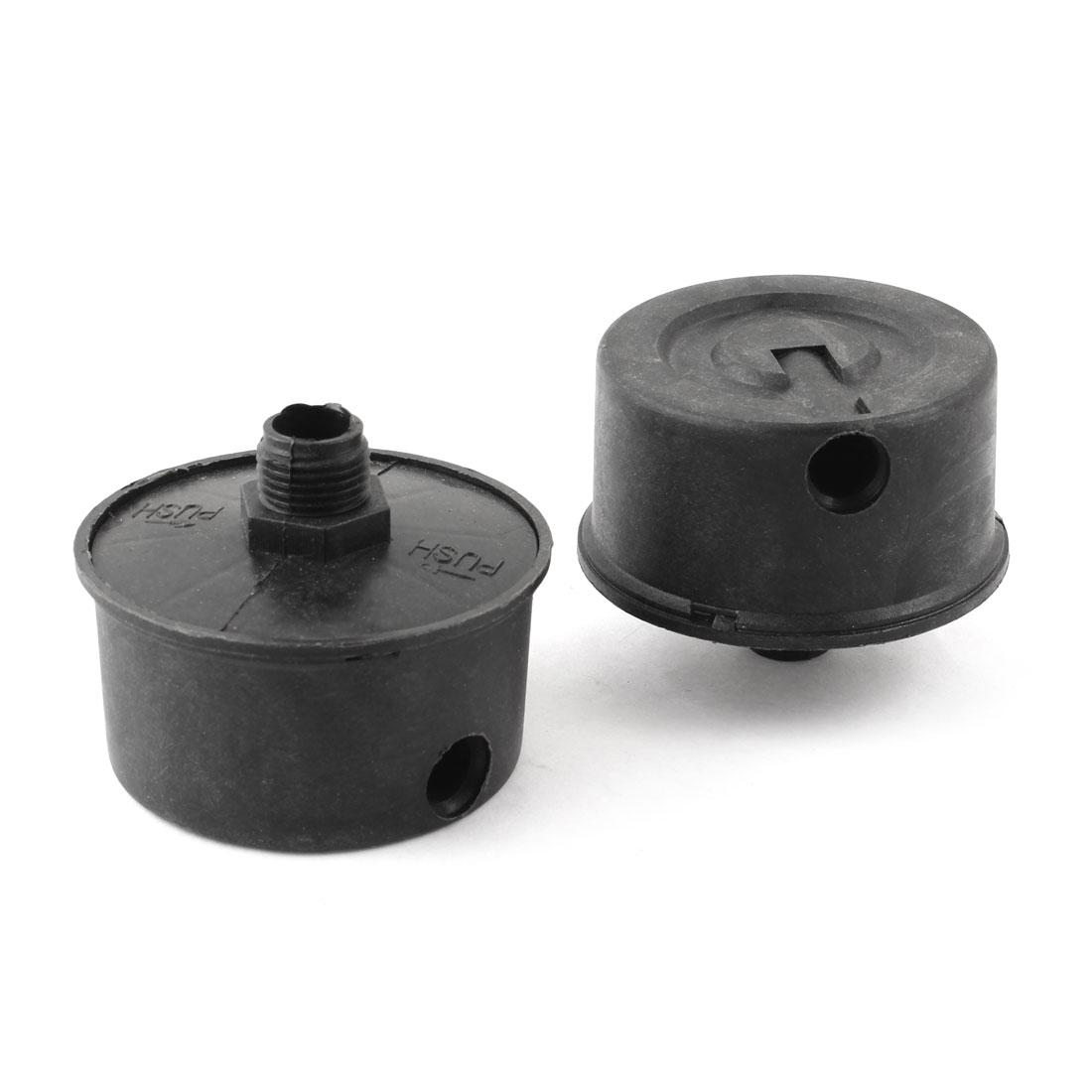 2 Pcs 16mm Thread Admitting Port Silencer Muffler Black for Air Compressor