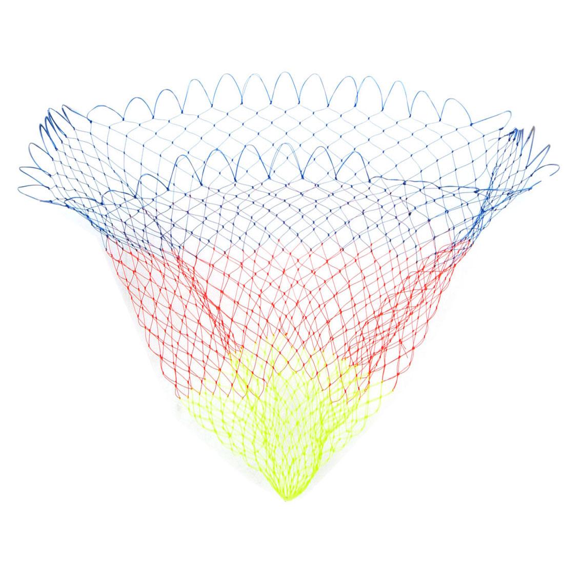 """0.8"""" x 0.8"""" Mesh Hole 18"""" Depth Folding Nylon Landing Fishing Net 3 Colors"""