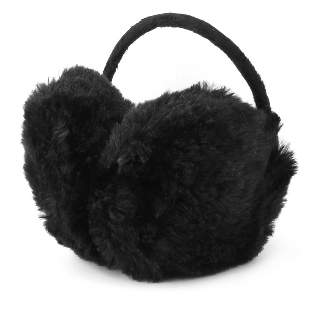 Outdoor Winter Warm Earcap Plush Ear Warmers Earmuffs Black for Ladies
