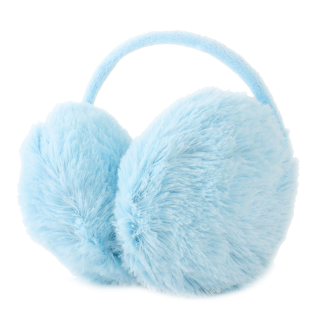 Women Girls Outdoor Winter Ear Warmers Earlap Plush Earmuffs Pale Blue