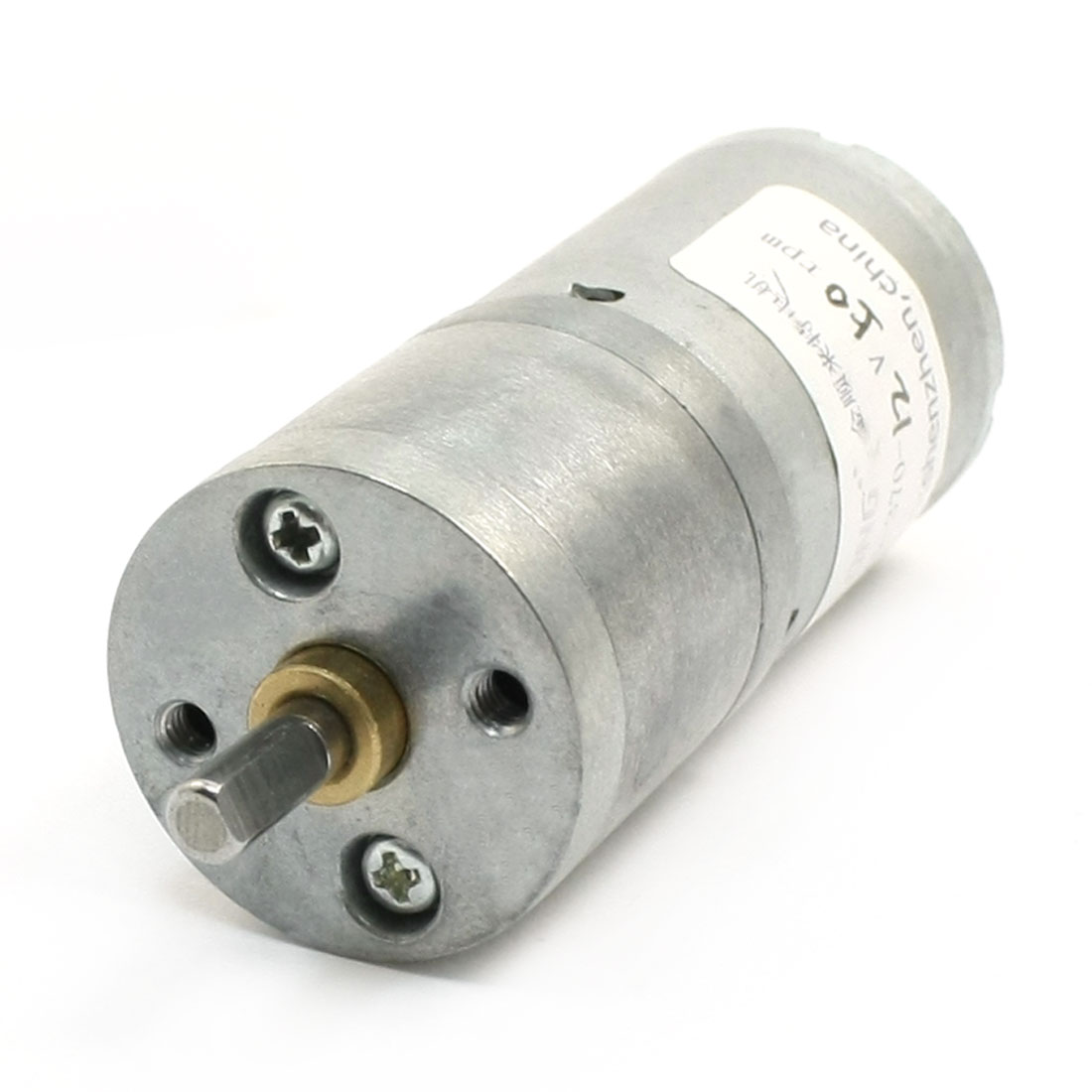 DC12V 240mA 4mm Dia Shaft 50RPM Speed Reducing Geared Motor