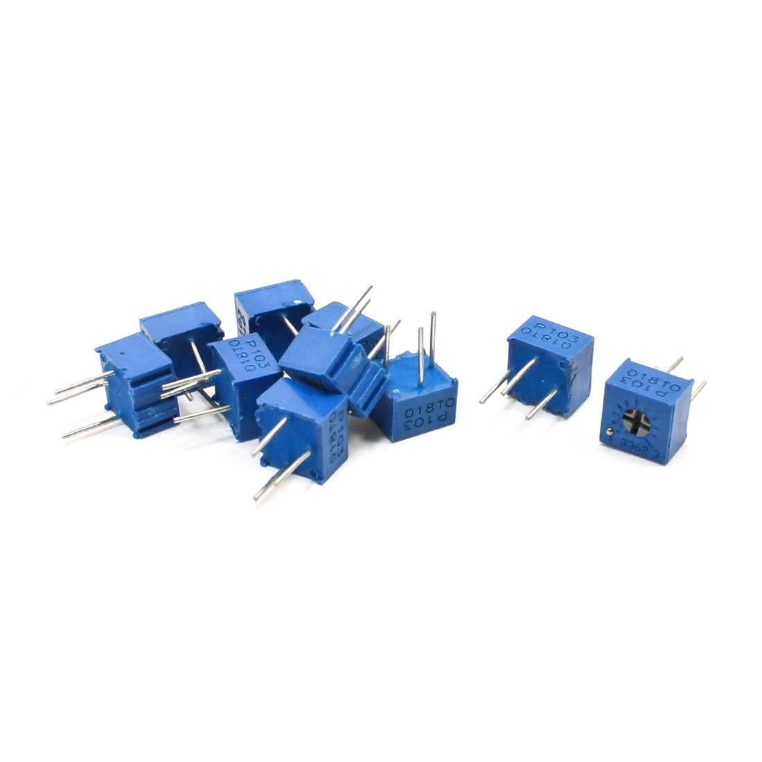 10K Ohm 3362P Top Adjustment Single Turn Cermet Potentiometer 10 Pcs