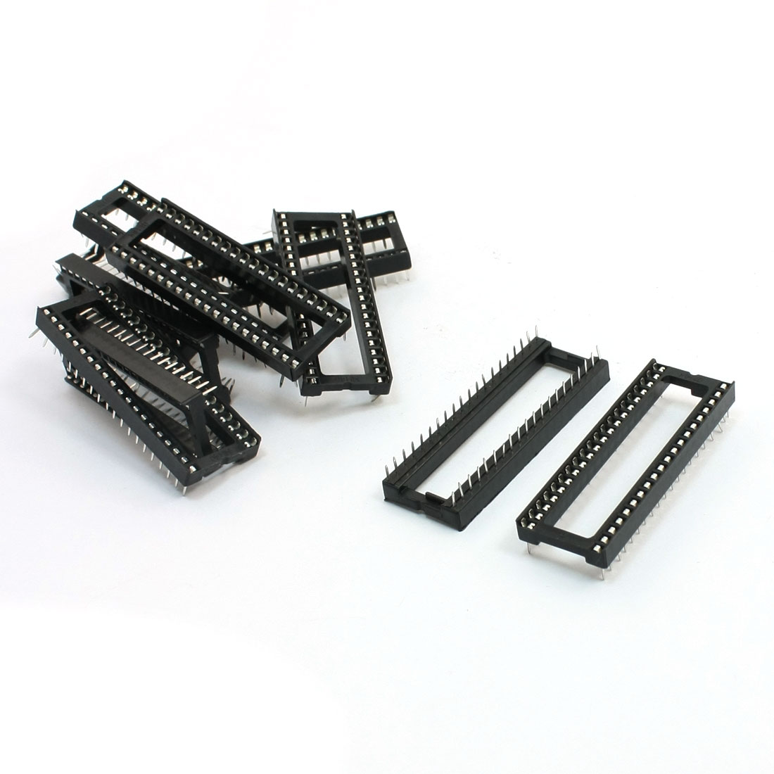 10 Pcs Double Row Through Hole 40 Pin DIP IC Sockets Adapter