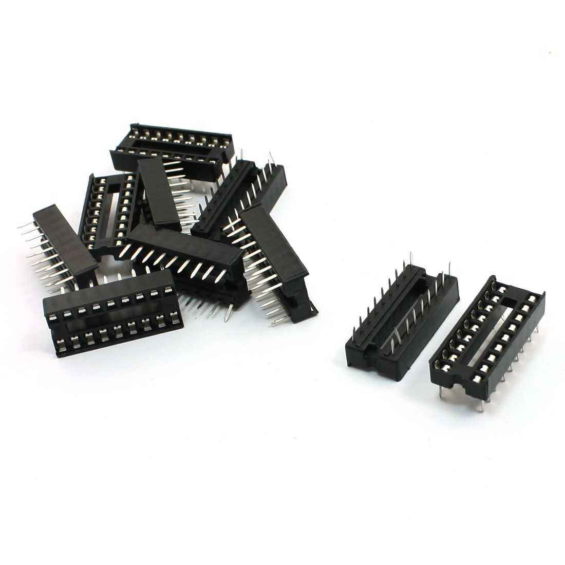 10 Pcs 2.54mm Pitch Soldering 18 Pin DIP IC Sockets Adaptor