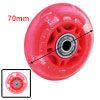 Plastic Inline Bearing Single Skateboard Shoes Wheel Red 70mm Diameter