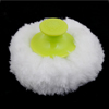 Green Grip Round Shape Fluffy Plush Sponge Powder Puff for Baby