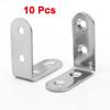 10 Pcs Furniture Right Angle Bracket Fastener 40mm x 40mm x 17mm