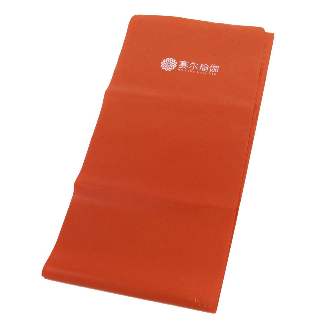 1.2m Long Shoulder Extension Body Exercise Elastic Bandage Orange Red