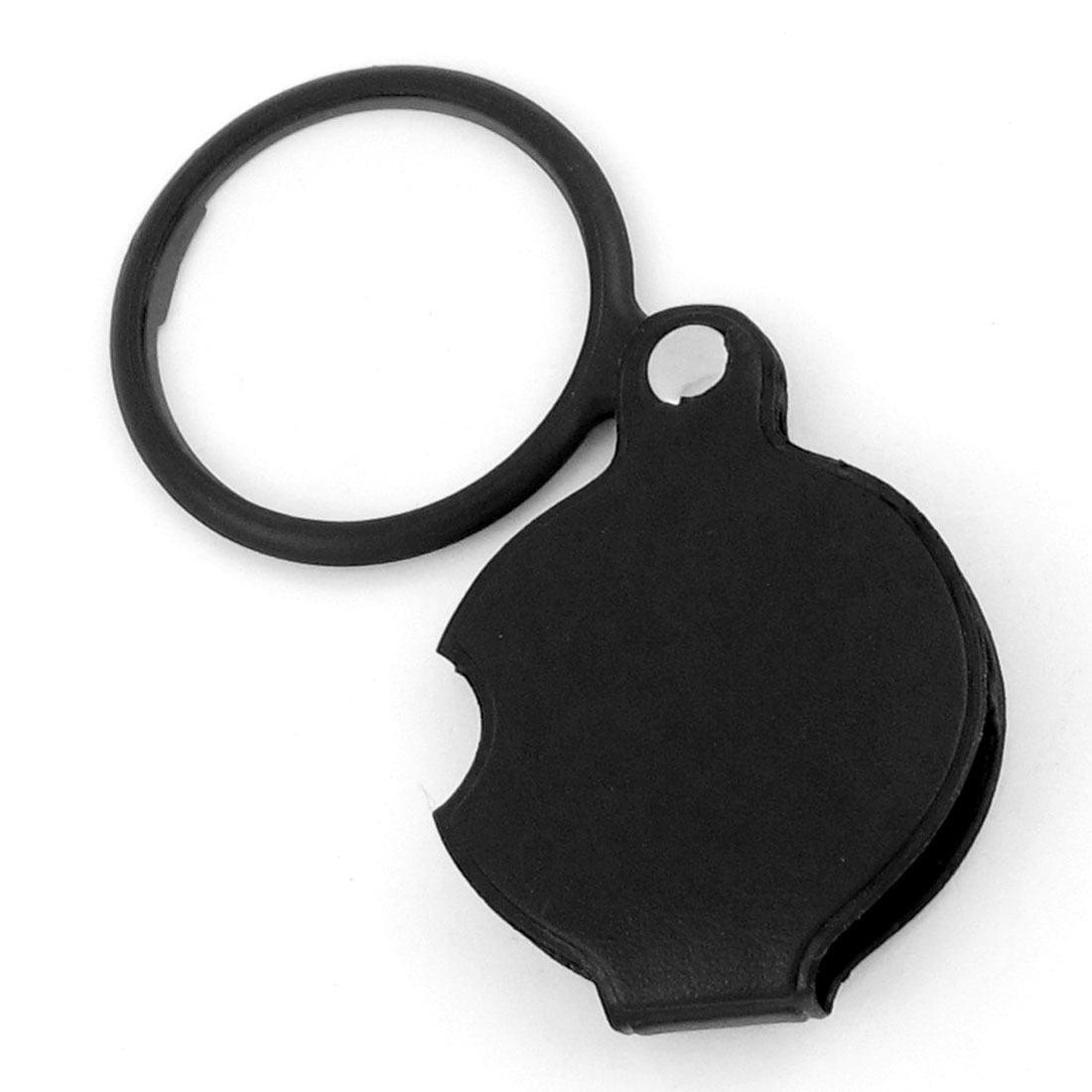 4X Round Shape Foldable Pocket Spiegel Magnifying Glass Black