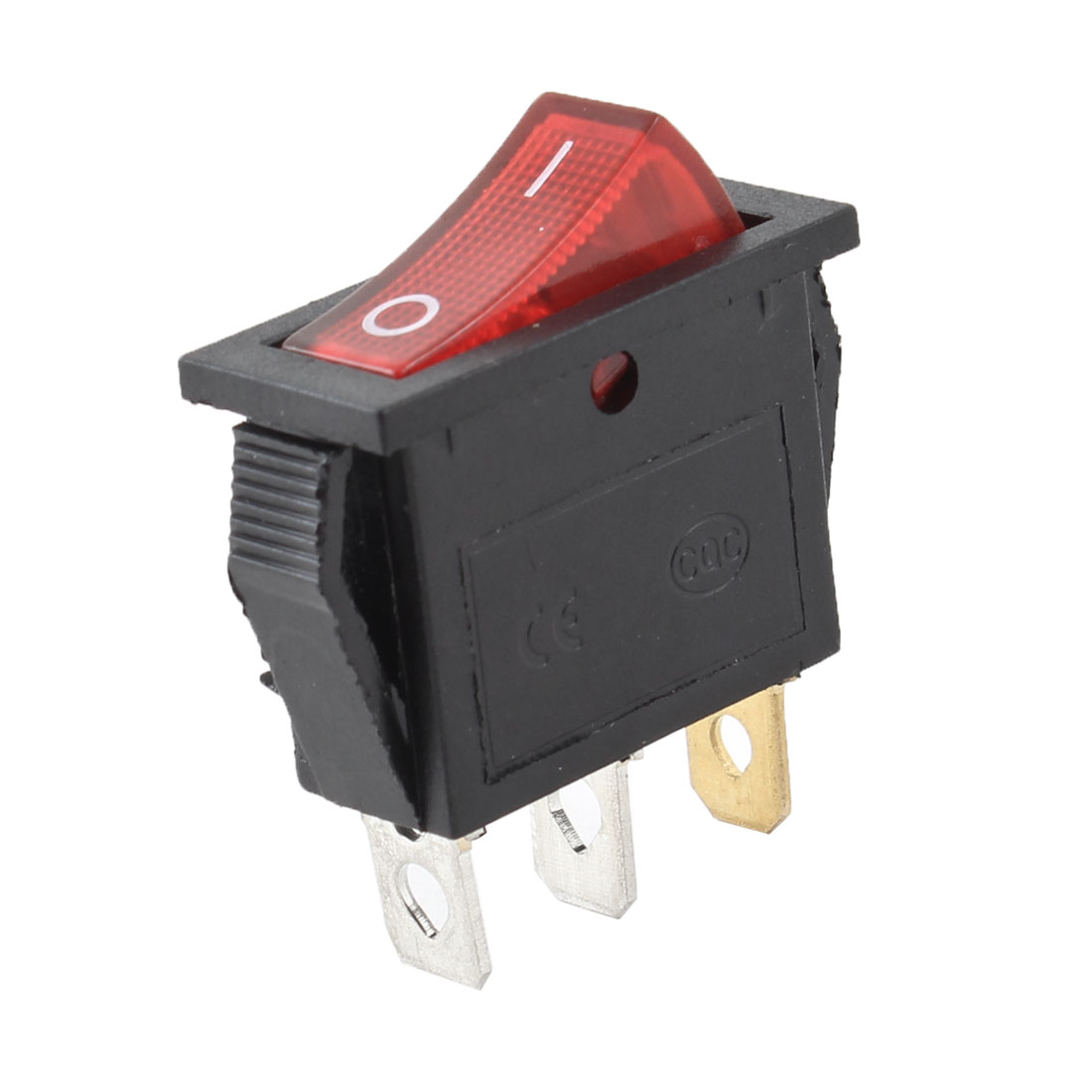 SPST 3 Pole Red Button On/OFF Rectangle Rocker Switch AC 30A/125V 15A/250V