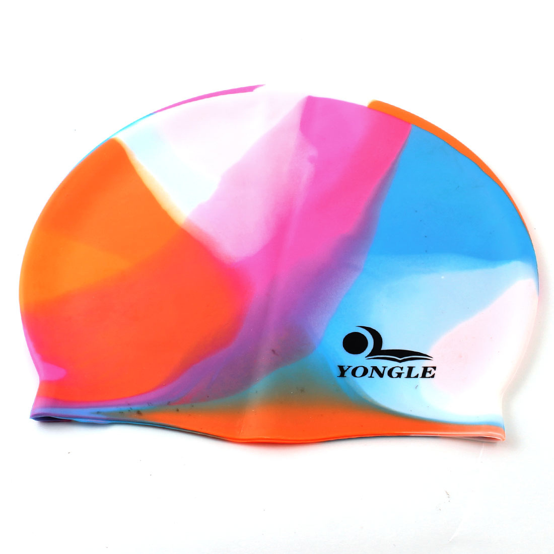 Women Man Dome Design Stretch Head Band Swimming Swim Cap Colorful