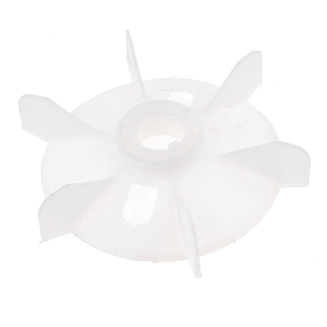 Y112 Replacement White Plastic Inner Dia 2.6cm Six Impeller Motor Fan Vane