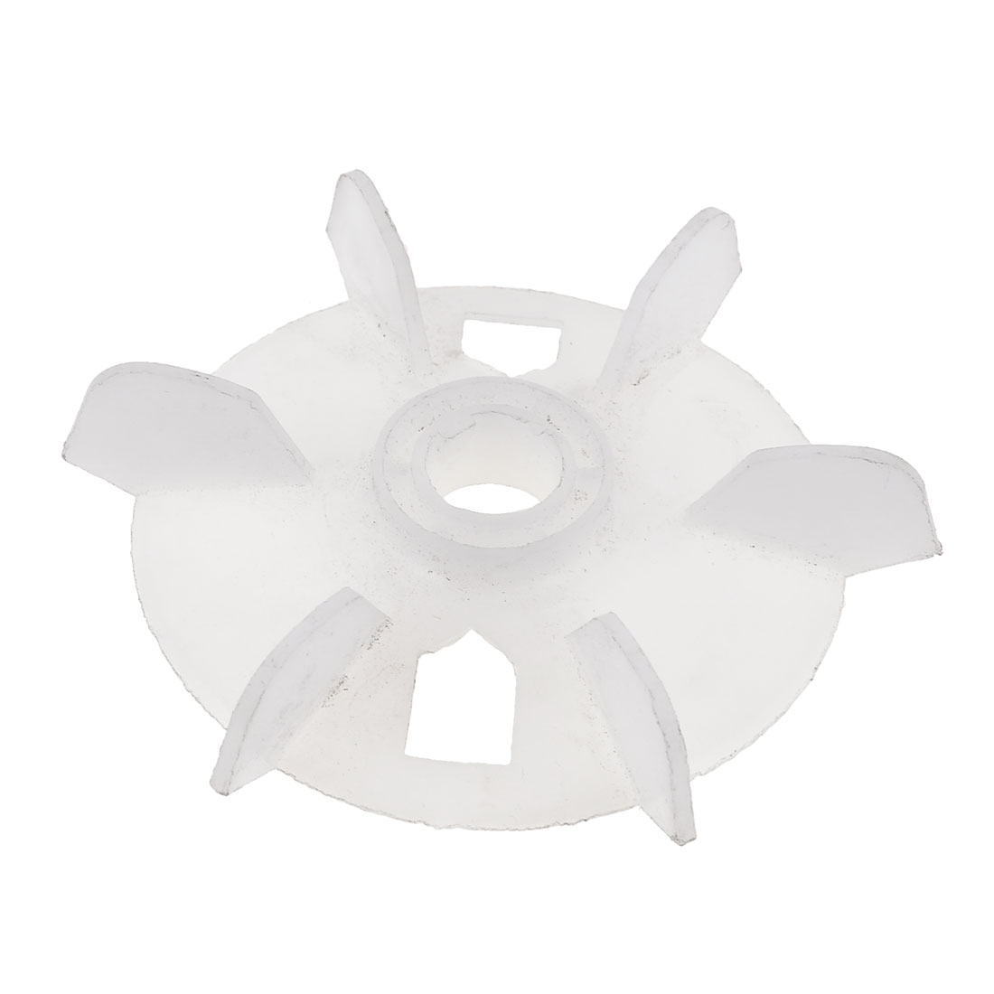 Y80 Replacement White Plastic Inner Dia 1.9cm Six Impeller Motor Fan Vane