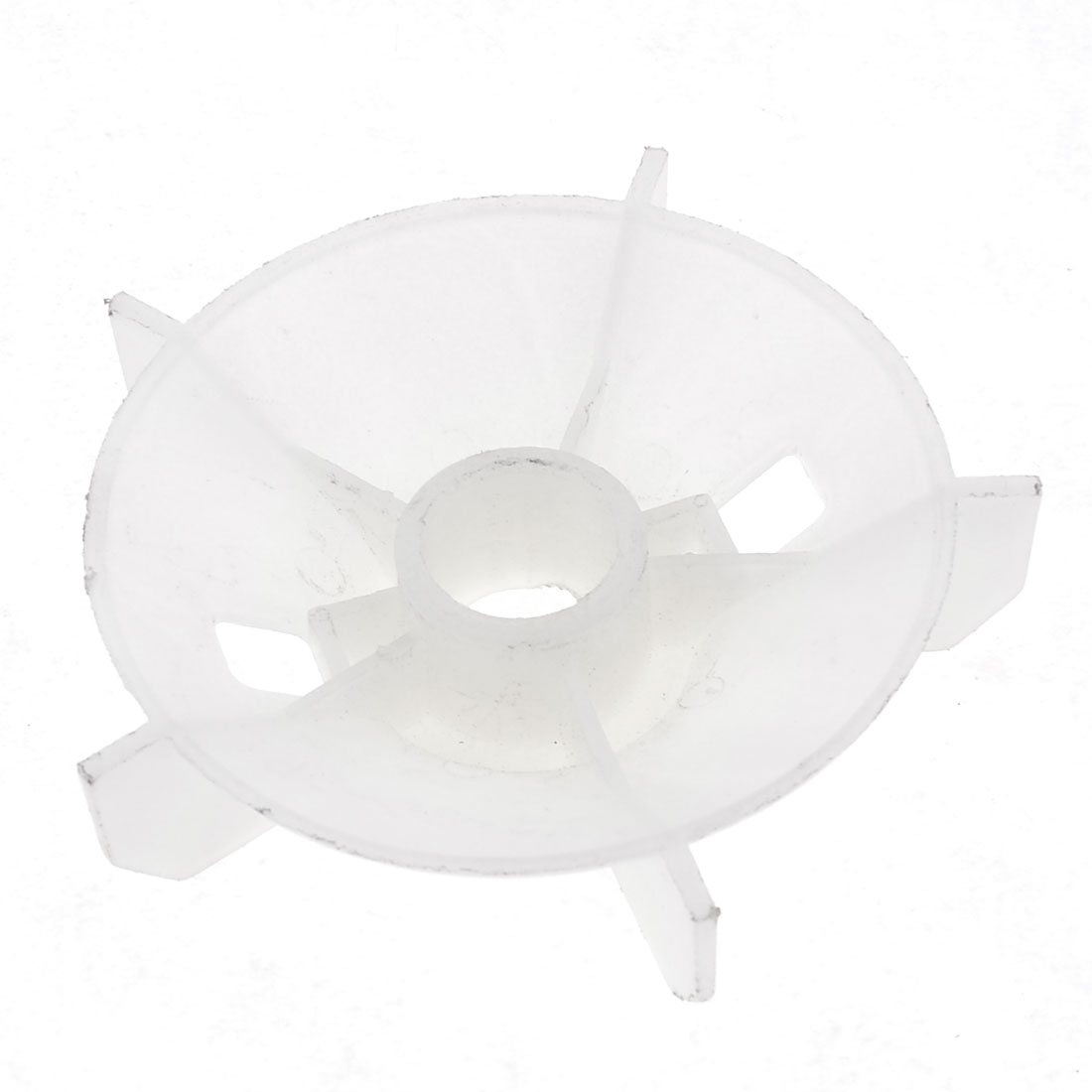 Y2-90 Replacement White Plastic Inner Dia 2.4cm 5 Impeller Motor Fan Vane