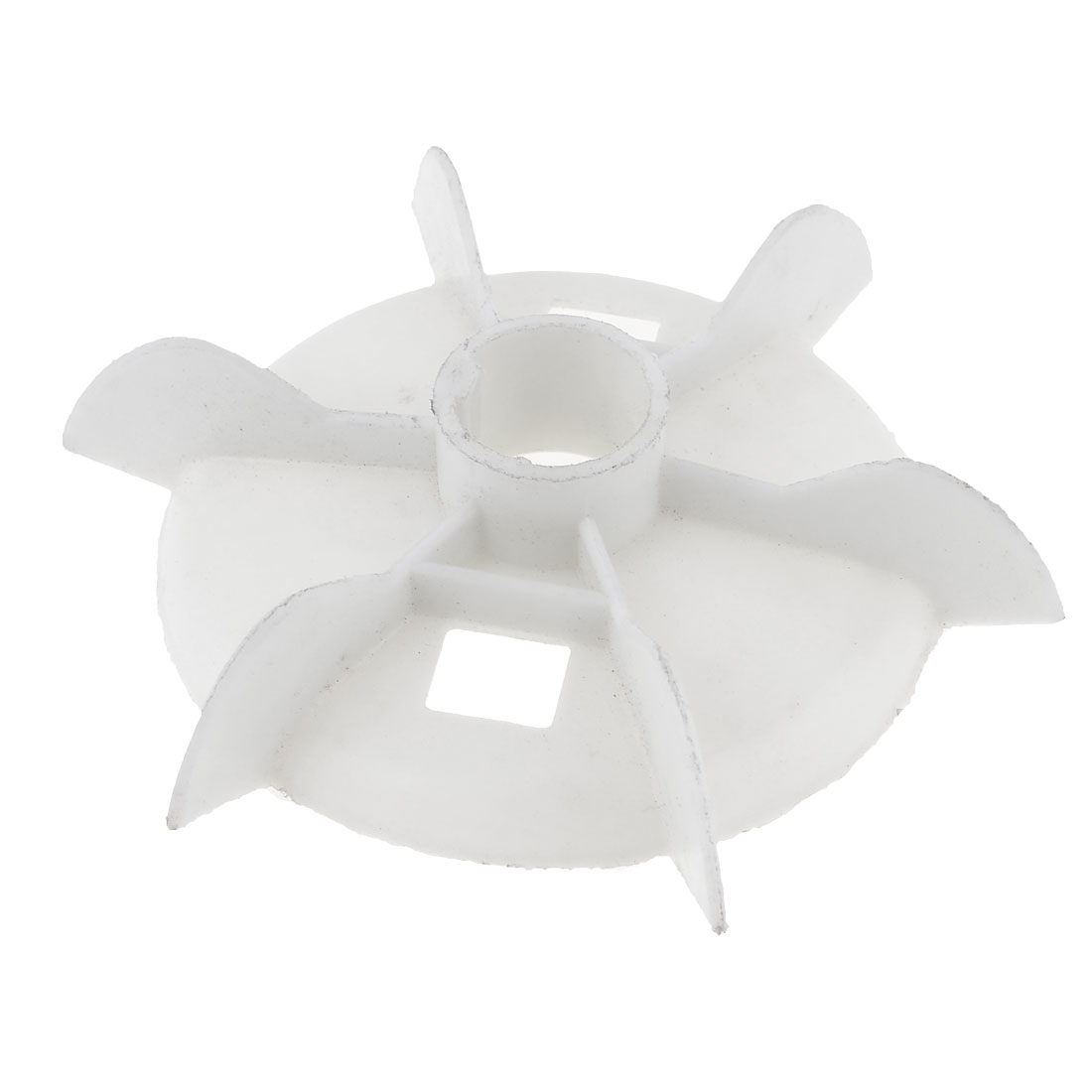 Y112 Replacement White Plastic Inner Dia 2.8cm Six Impeller Motor Fan Vane