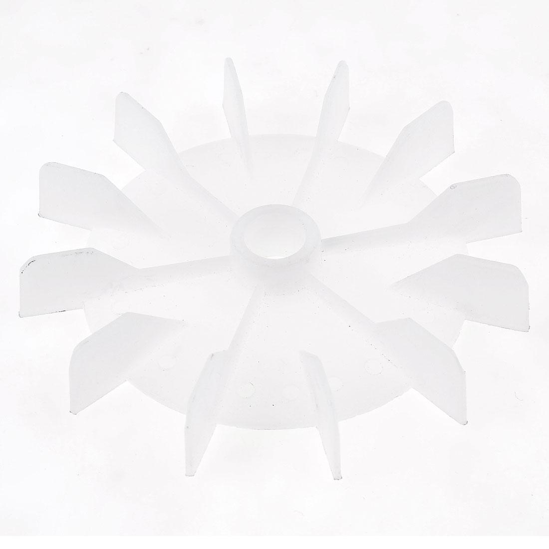 Replacement White Plastic Inner Dia 14cm 12 Impeller Motor Fan Vane