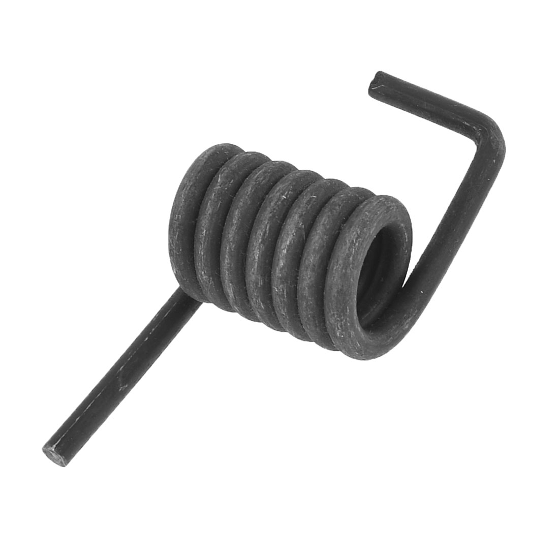 Black Metal Coil Dia 2.9cm Cutting Off Machine Spare Part Torsion Spring