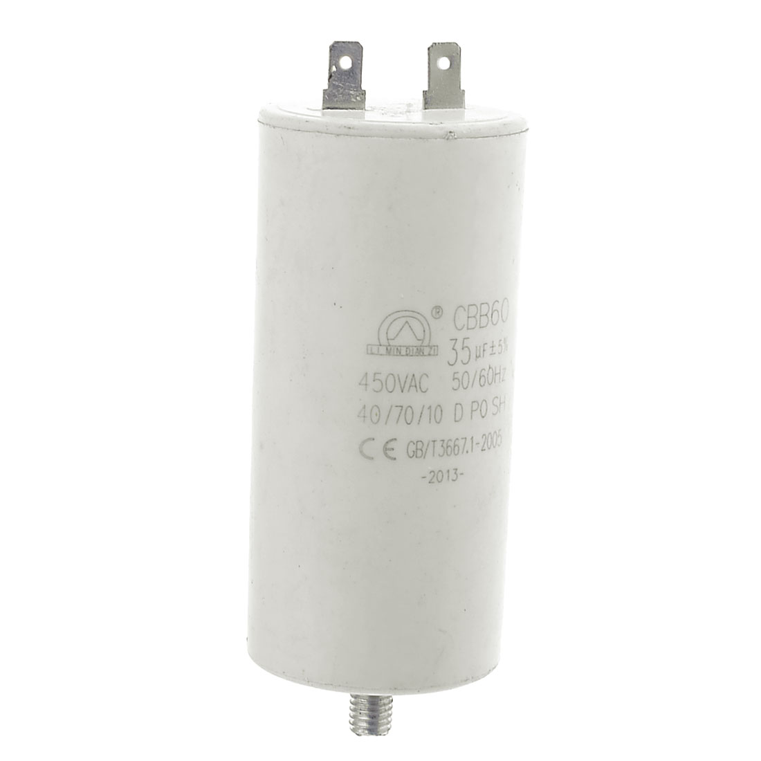 CBB60 35uF 450VAC Screw Base Aluminum Electrolytic Motor Capacitor