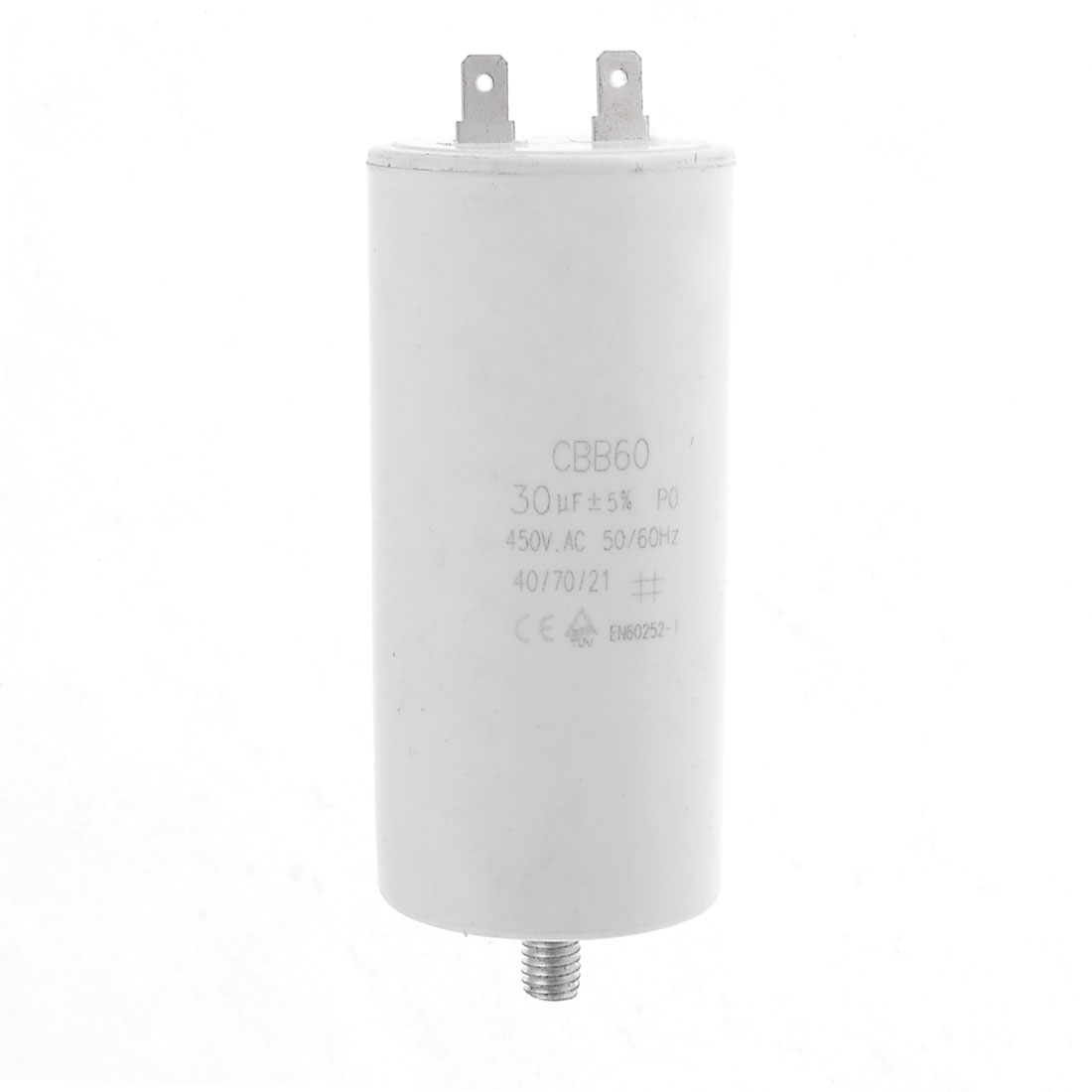 CBB60 30uF 450VAC Screw Base Aluminum Electrolytic Motor Capacitor