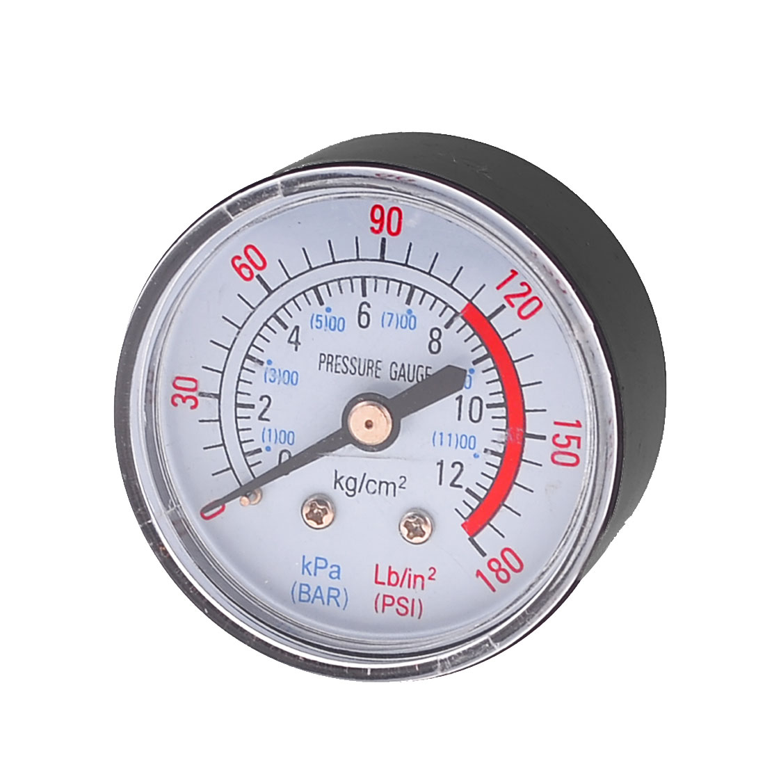 "Air Compressor 0-180 PSI 0.47"" Threaded Dial Pressure Gauge"