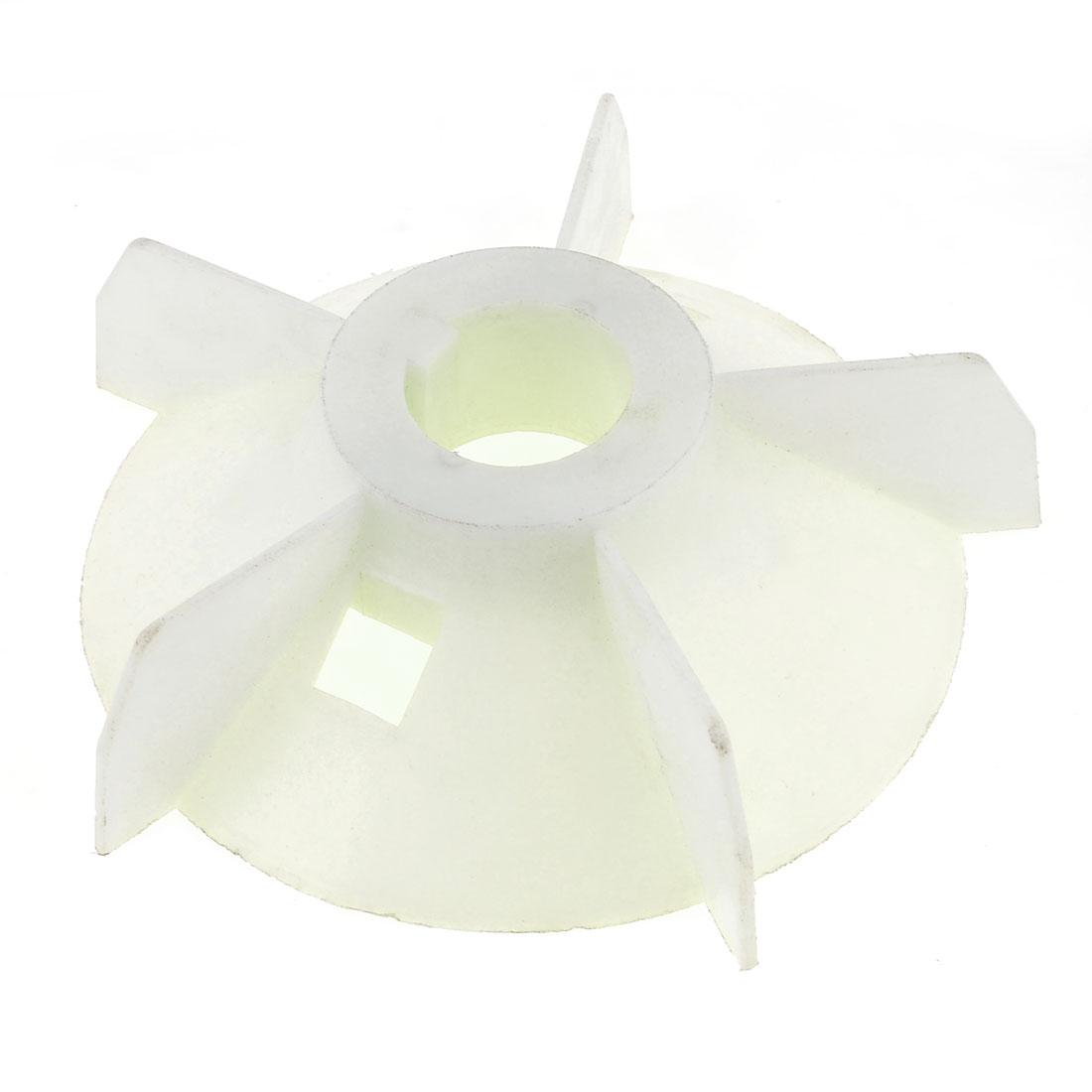 Y2-132 Replacement White Plastic Inner Dia 3.7cm Five Impeller Motor Fan Vane