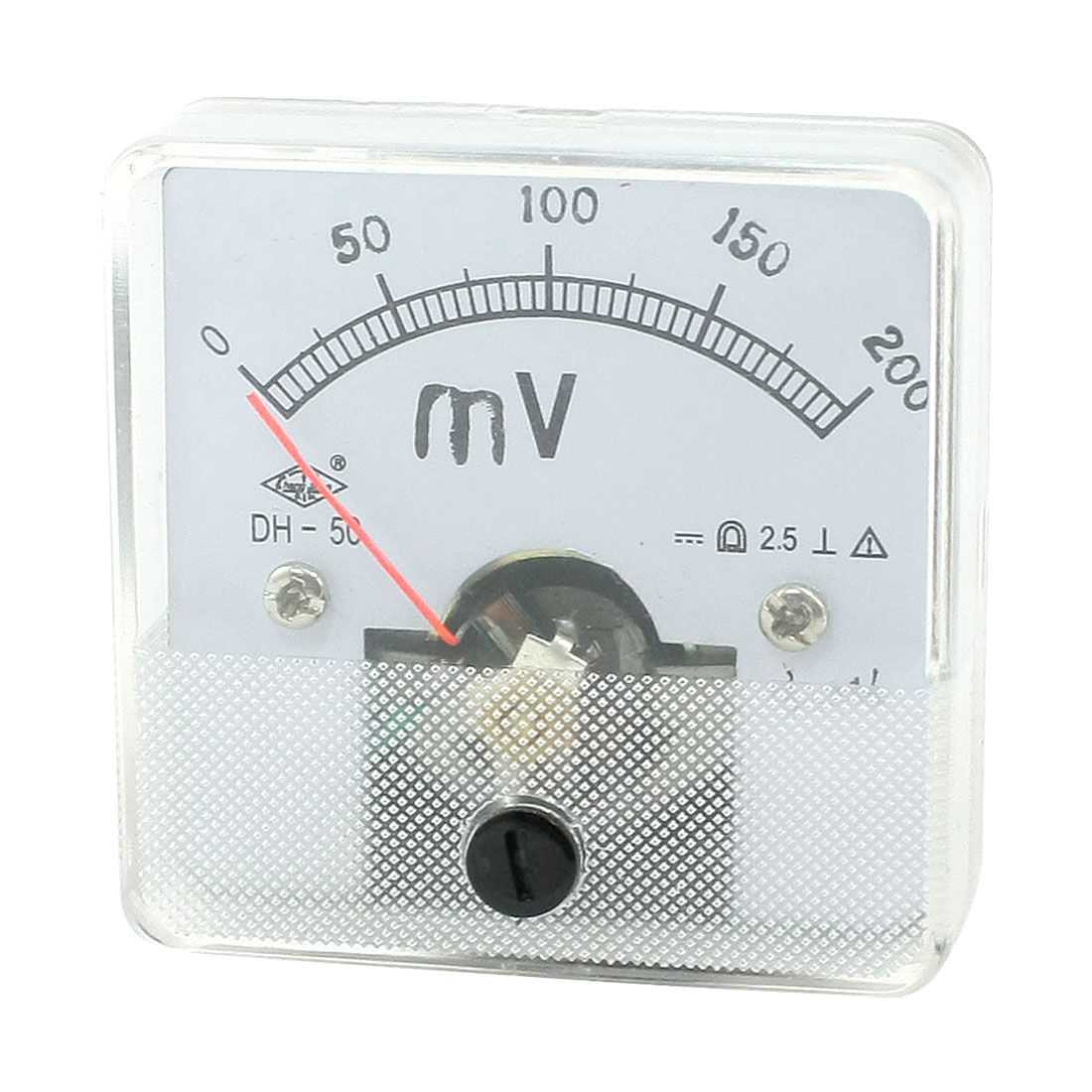 Square Shaped Voltage Panel Meter Voltmeter DH-50 DC 0-200mV