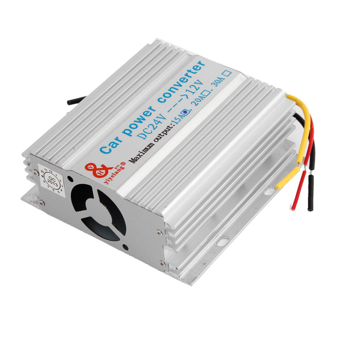 Truck Car 15A 180W Imput DC 24V to 12V Output Power Supply Transformer Converter
