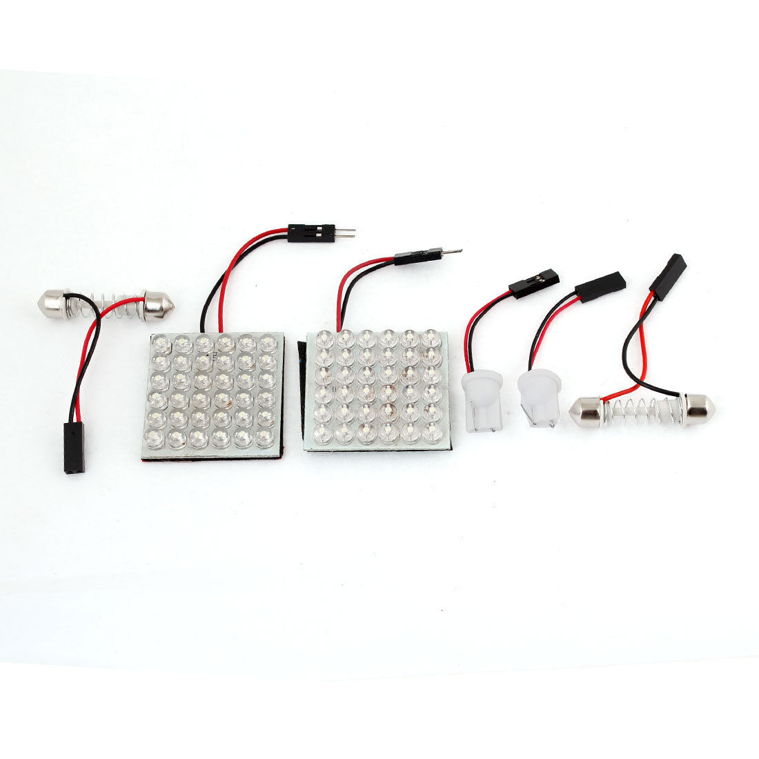 Car 36 LED Light Panel White w T10 Adapter 29-40mm Spring Festoon Adapter 2 Pcs
