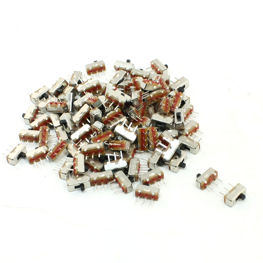 100 Pcs On/Off 3 Pin SPDT Mini PCB DC 50V 0.3A Slide Switch 8mm x 3mm
