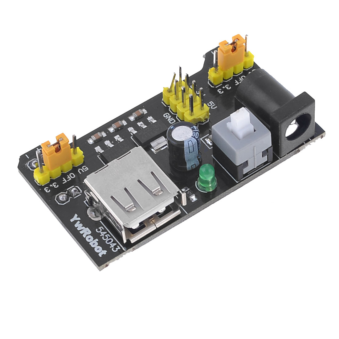 3.3V/5V Power Supply Module for MB102 Breadboard Black