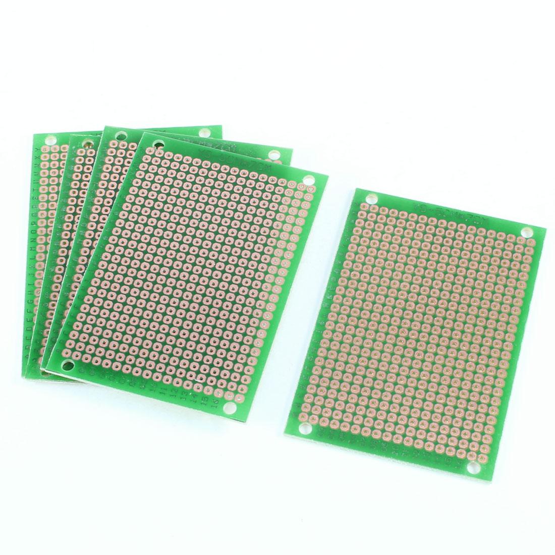 5 Pcs 5cm x 7cm Solderable Prototype Universal PCB Circuit Board