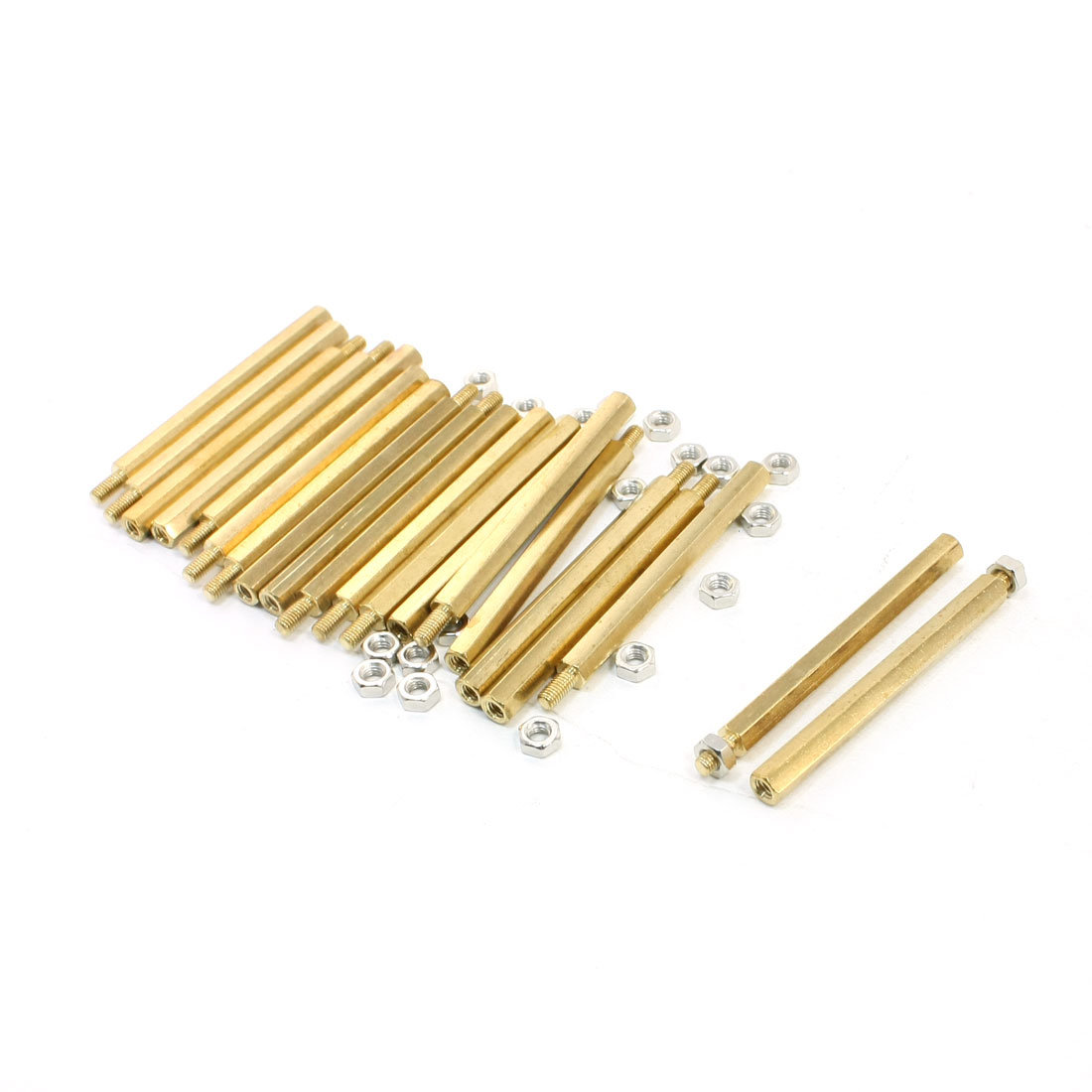 20Pcs M3x6mm Male to Female Thread Hex Standoff Spacer 50mm Body Length
