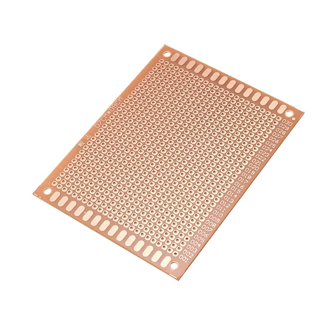 10 Pcs 7cm x 9cm Panel Universal Single Side Copper PCB Board Copper Tone