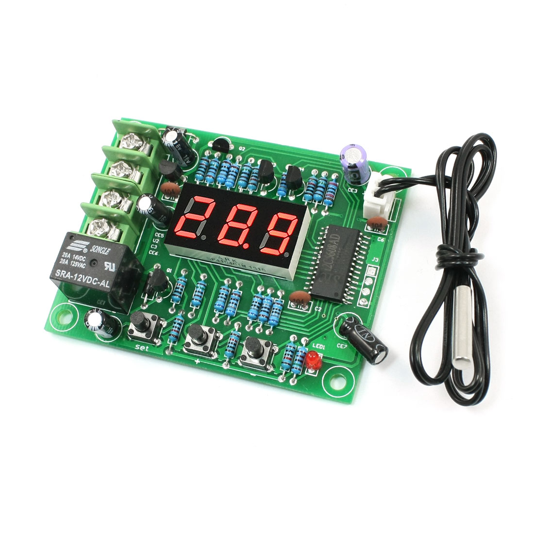 -50-110C 1C Accuracy Temperature Detect Switch Module DC 12V w Probe