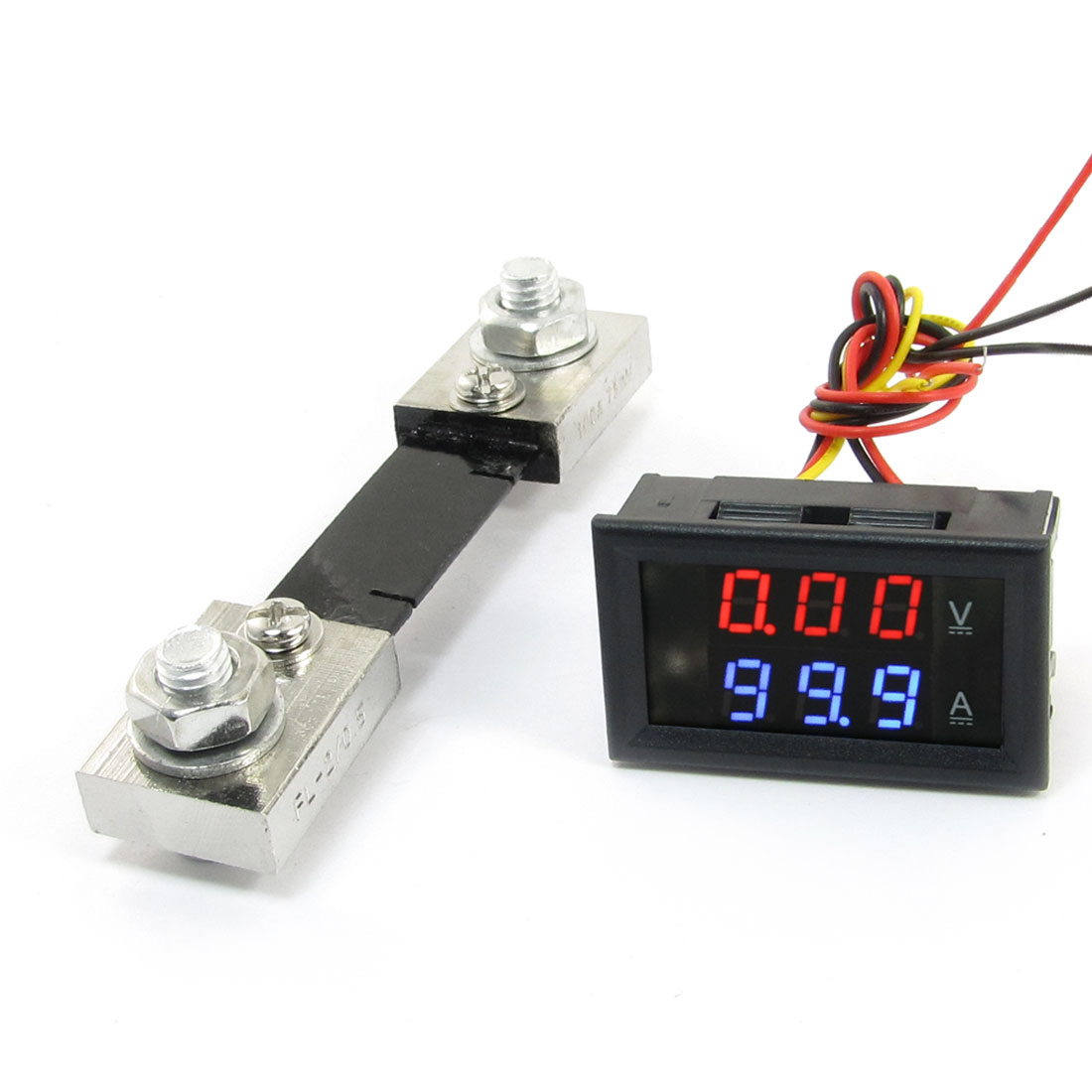 0-100V/100A Digital Dual LED Display DC Voltage Current Meter w Shunt