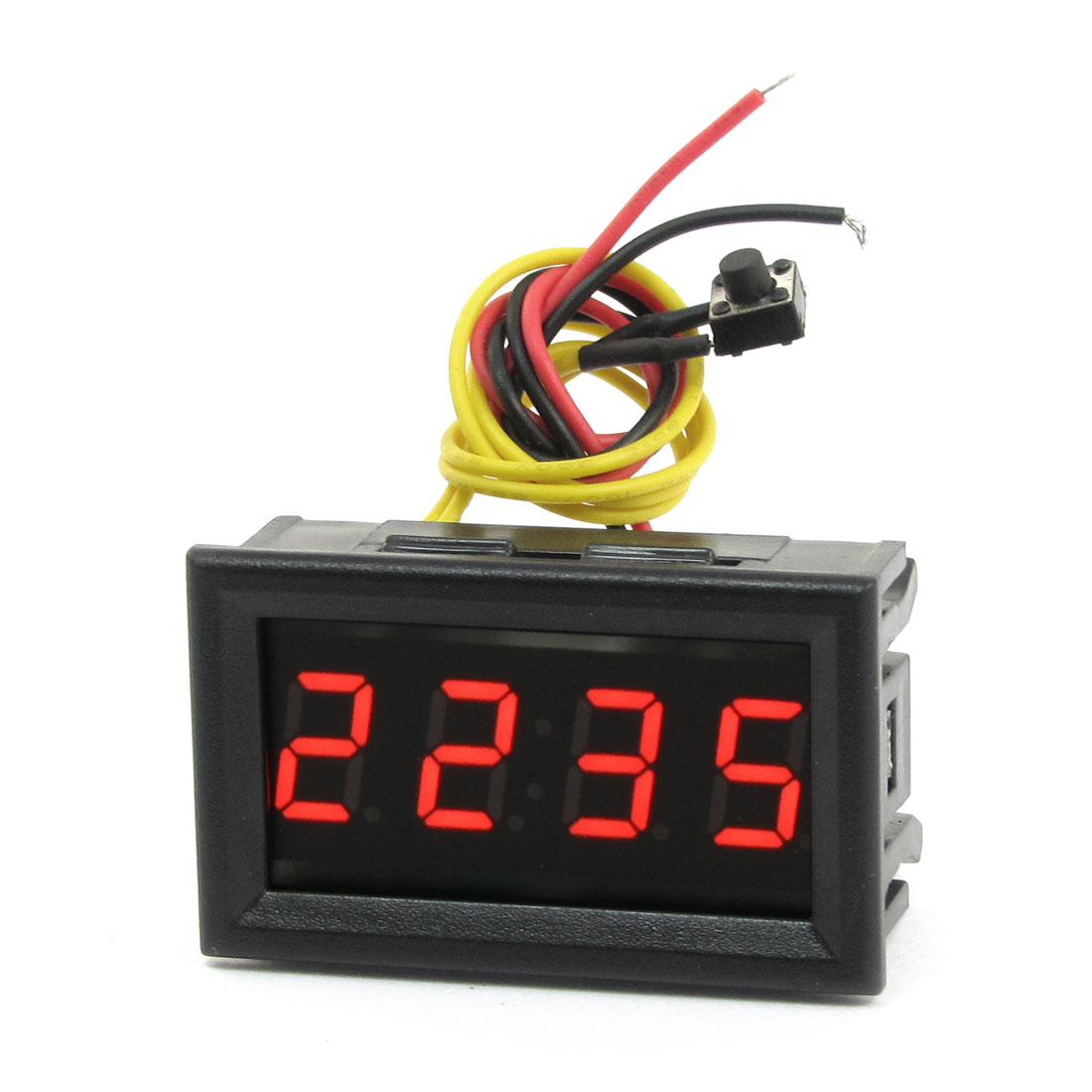 "YB27T 0.4"" Red LED 4-Digital Display Electronic Clock DC 4.5-30V"