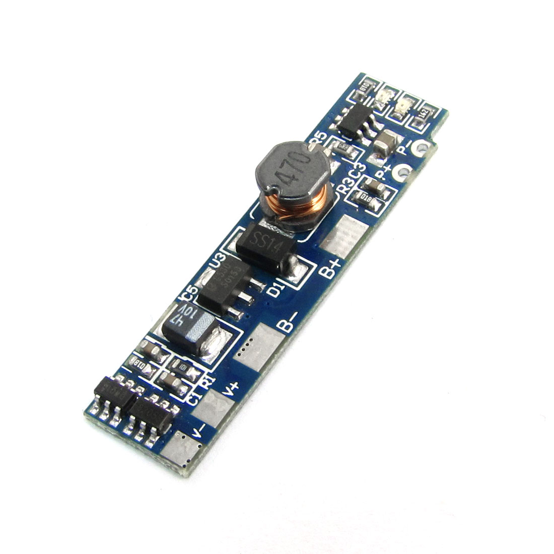 DIY 5V Boost PCB Source Board Module Blue for Mobile Power